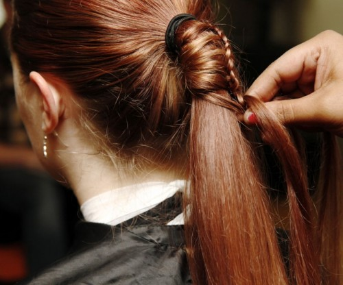 diy ladder braid to fancy up your ponytail styleoholic