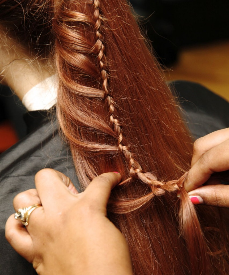 Picture Of diy ladder braid to fancy up your ponytail  5