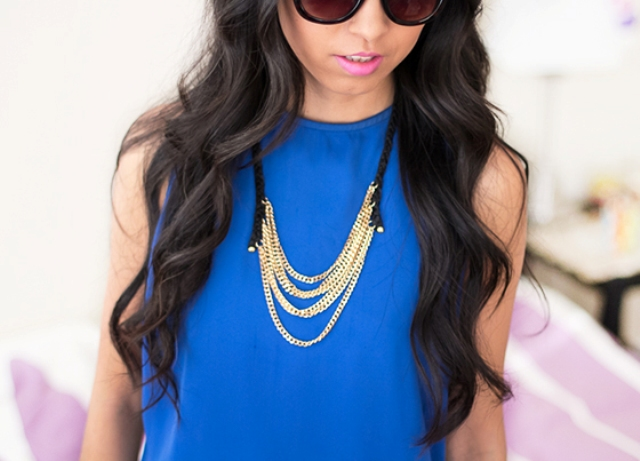 Picture Of diy layered chain and braided leather necklace  1