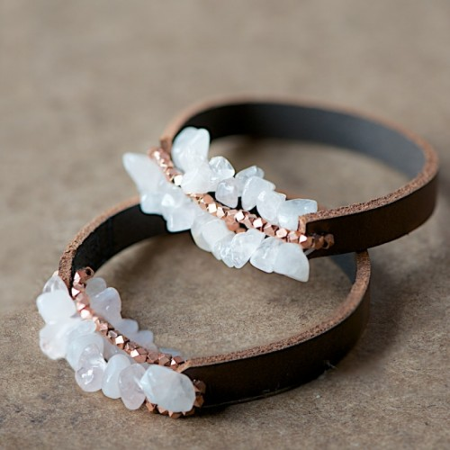 DIY Leather Bracelet With Beads