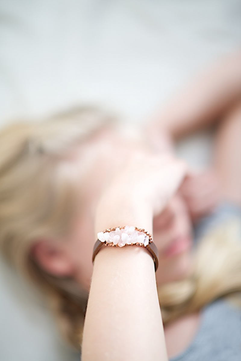 Picture Of diy leather bracelet with beads  4