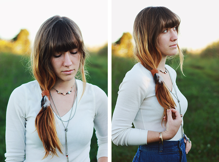 Picture Of diy leather ponytail wrap  2