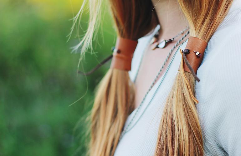Diy leather ponytail wrap 3 Styleoholic