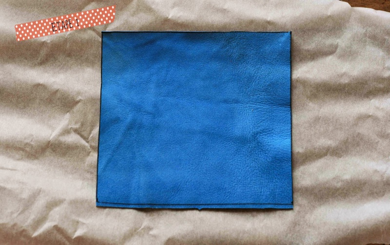 Picture Of diy leather pouch with patterned fabric inside  2