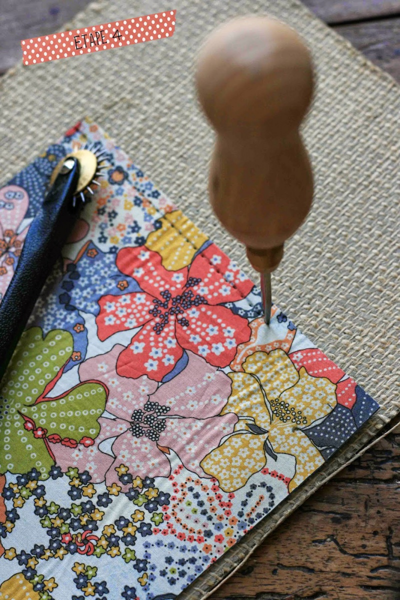Picture Of diy leather pouch with patterned fabric inside  4