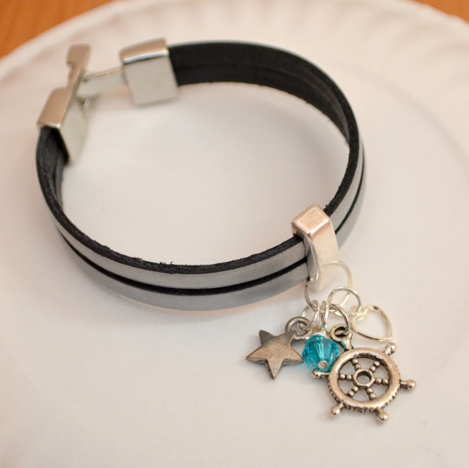 Picture Of diy leather wrap charm bracelet  5
