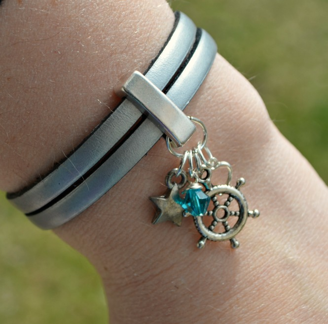 Picture Of diy leather wrap charm bracelet  6