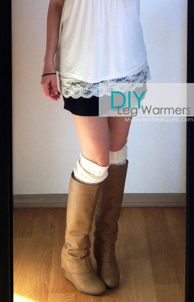 high leg warmers of a sweater
