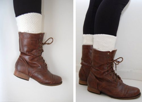 short leg warmers of an old sweater (via studs-and-pearls)