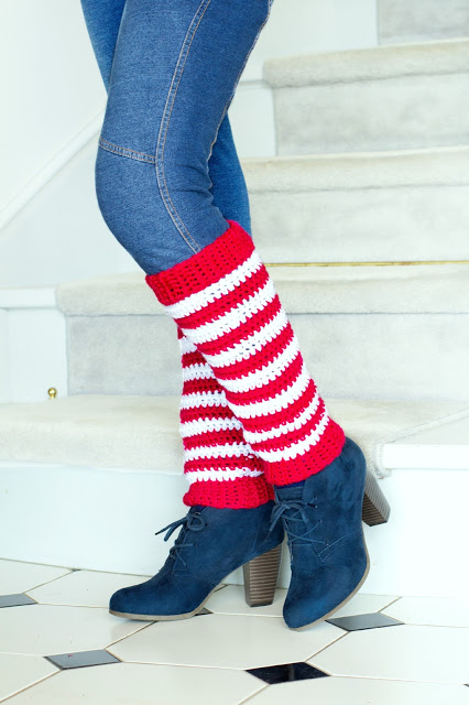 candy cane crochet leg warmers (via hopefulhoney)
