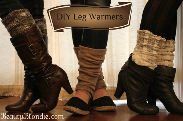 Picture Of diy leg warmers in less than a minute  1