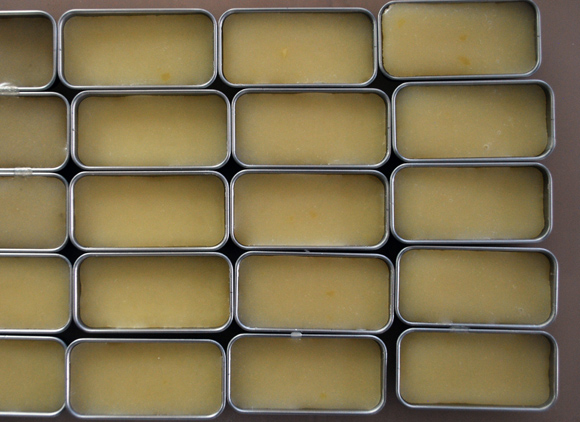 honey and orange lip balm