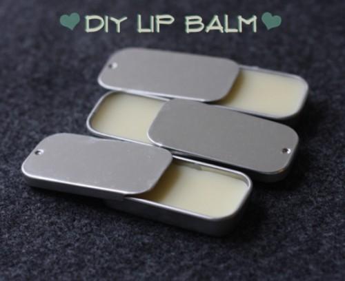 lip balm with essential oils (via shelterness)