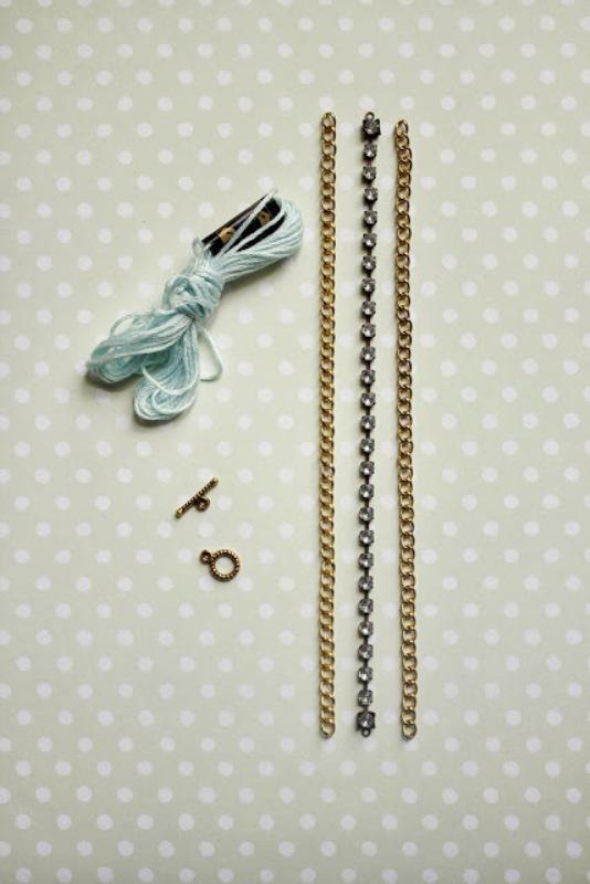 Picture Of diy lovely rhinestone bracelet  2