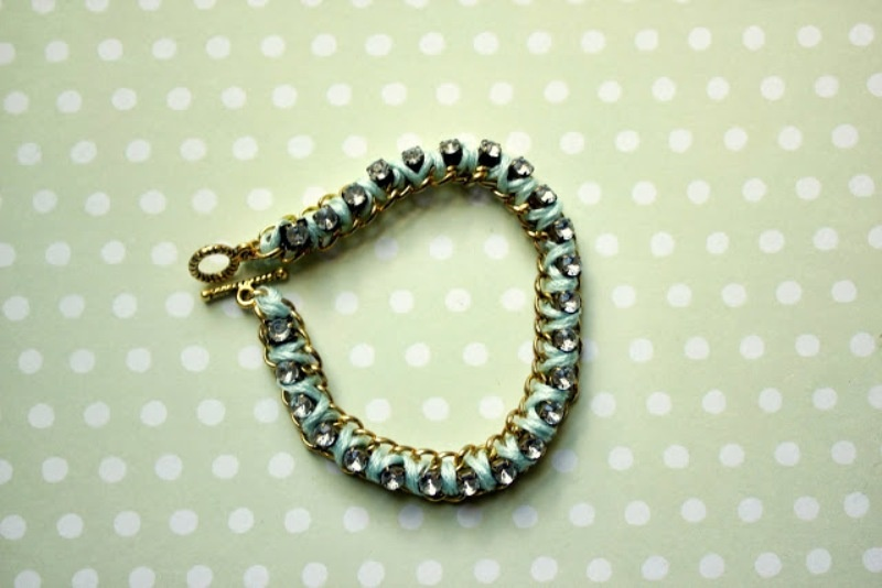 Picture Of diy lovely rhinestone bracelet  6