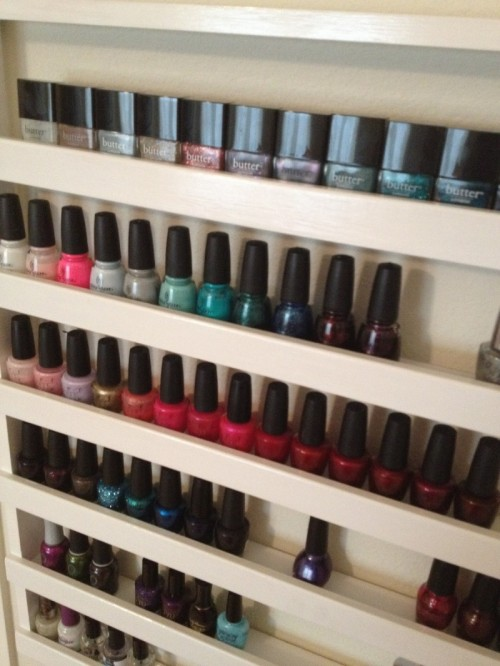 How to: Build Your Own Nail Polish Rack (via product-hag)