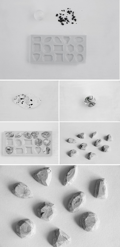 DIY Marble Gem Stones For Jewelry Making