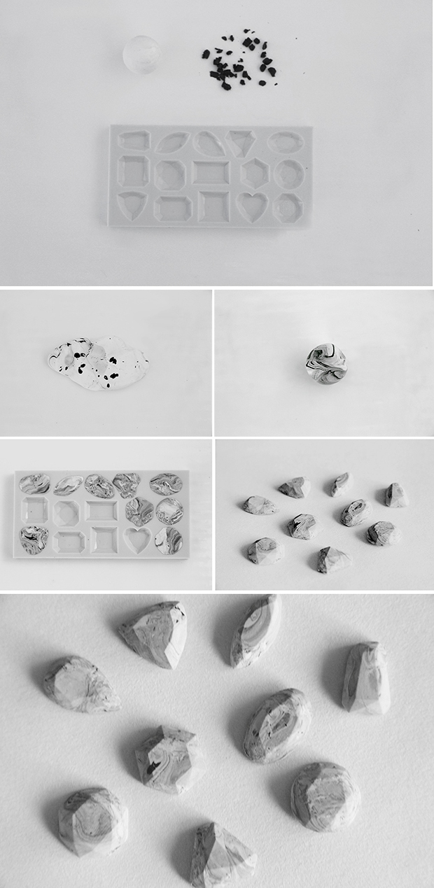 Picture Of diy marble gem stones for making jewelry  3