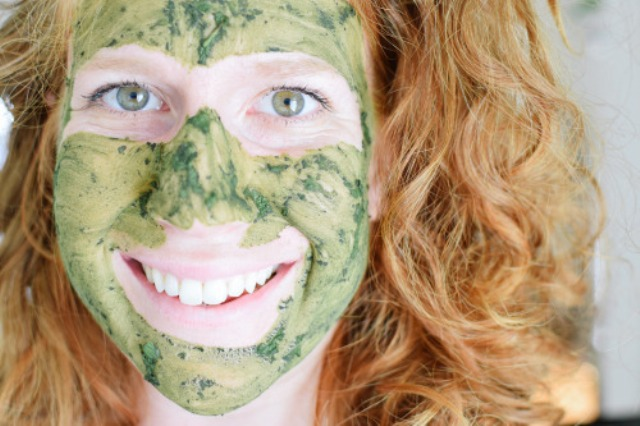 Picture Of diy matcha cucumber mint face mask  4