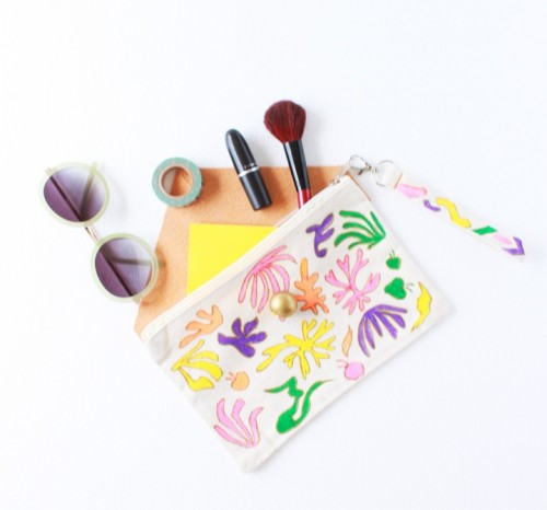 DIY Matisse-Inspired Make Up Pouch