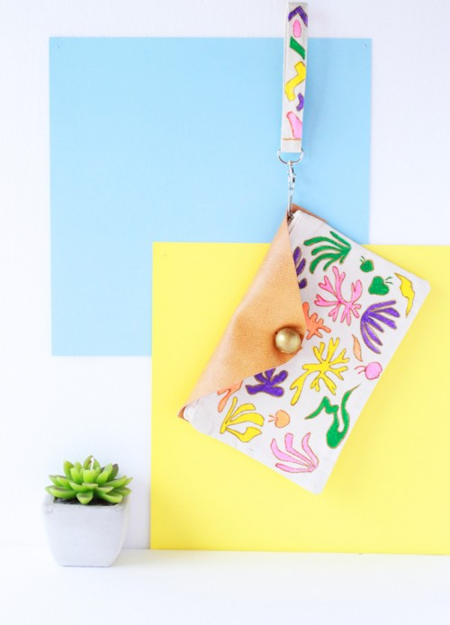 DIY Matisse Inspired Make Up Pouch