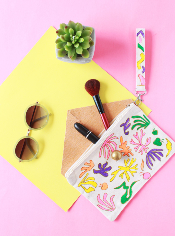 Picture Of diy matisse inspired makeup pouch  3