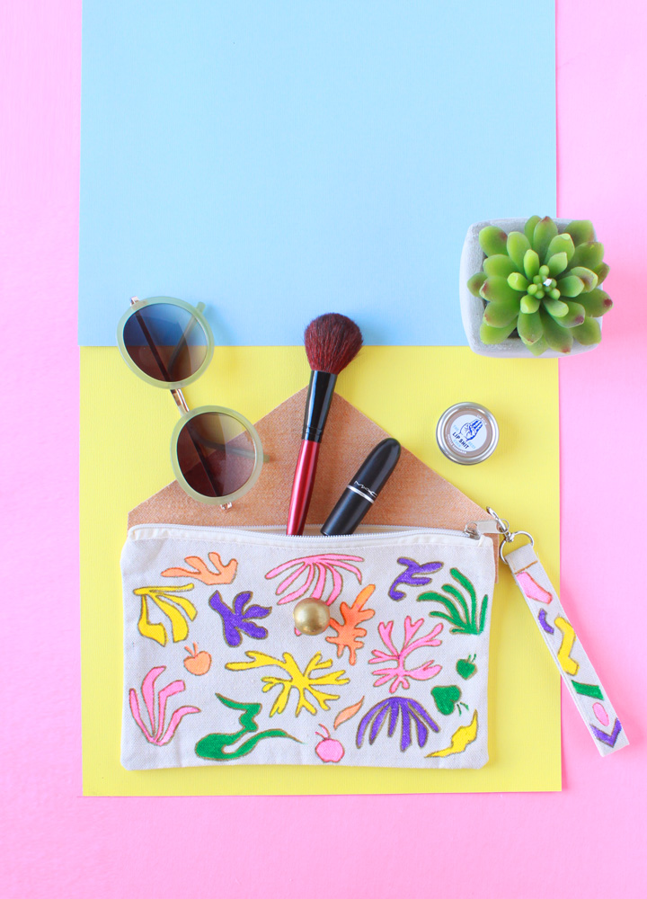 Picture Of diy matisse inspired makeup pouch  5