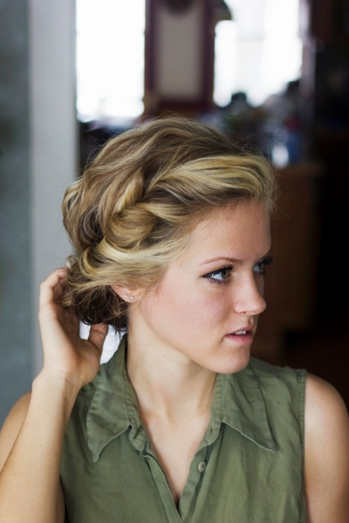 DIY Messy Bohemian Twist Hairstyle