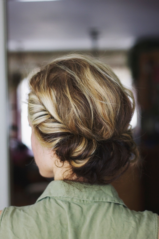 Picture Of diy messy bohemian twist hairstyle  2