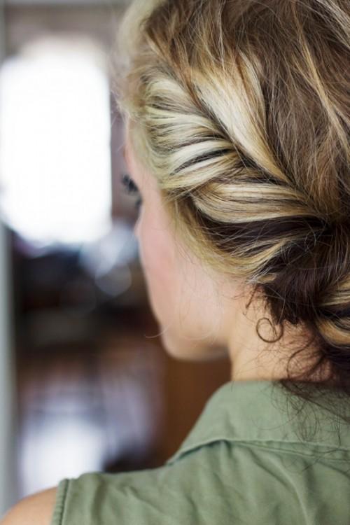DIY Messy Bohemian Twist Hairstyle
