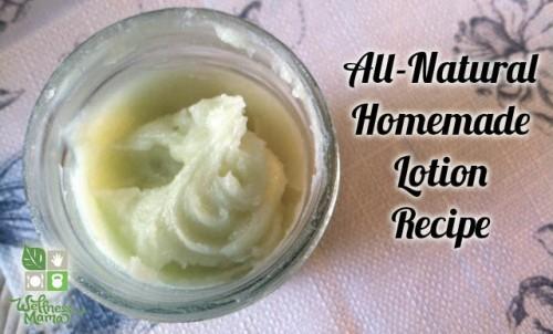 mint and green tea lotion (via wellnessmama)