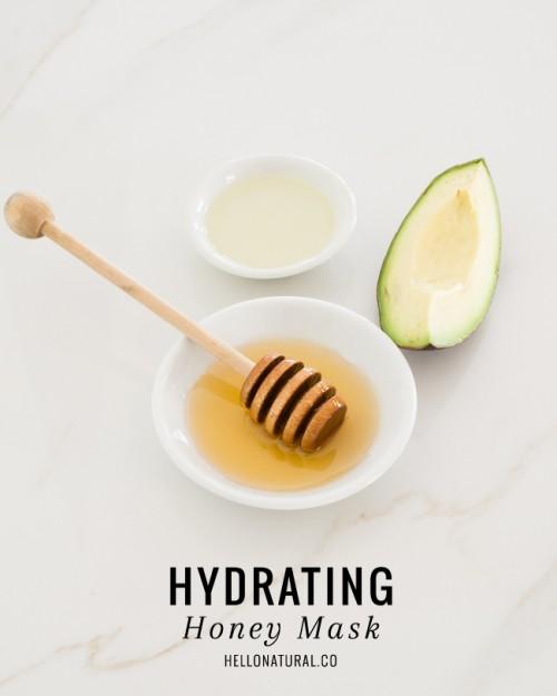 avocado and honey face mask (via hellonatural)