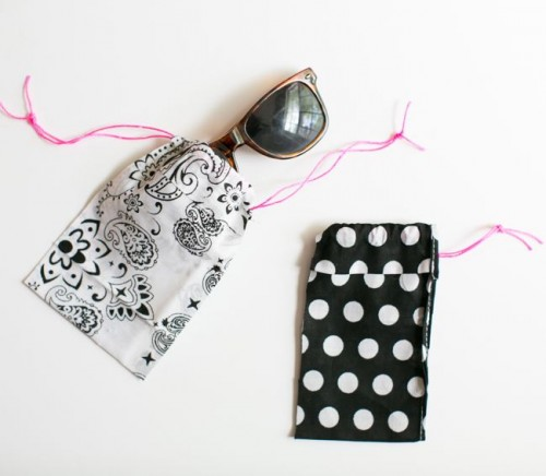 DIY No Sew Bandana Sunglasses Case