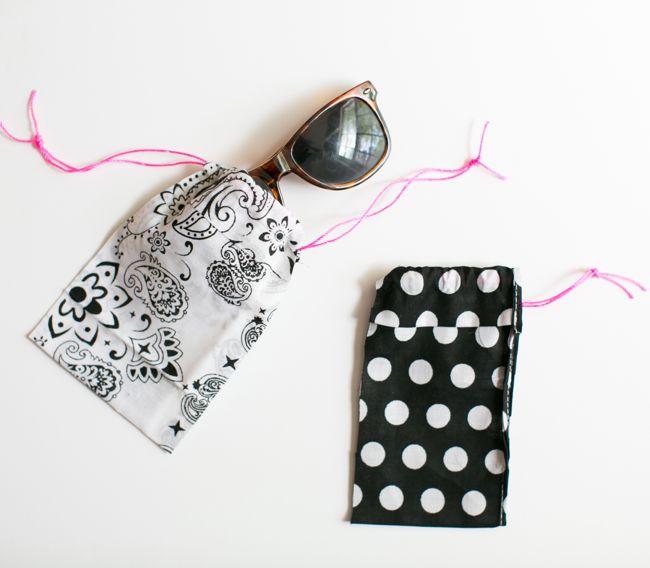 Picture Of diy no sew bandana sunglasses case  1
