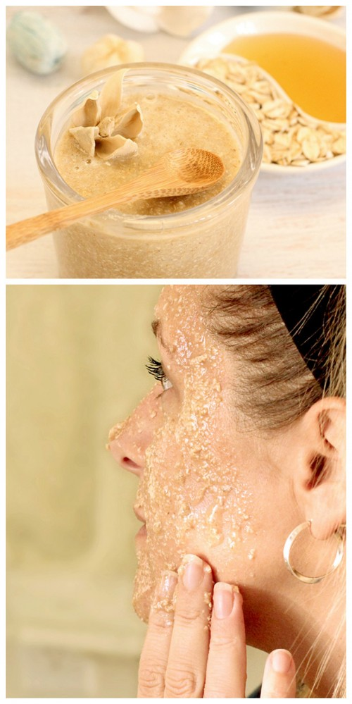 oatmeal honey face scrub (via dabblesandbabbles)