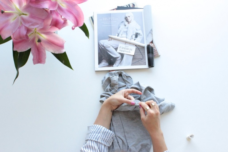 Picture Of diy off the shoulder t shirt  6