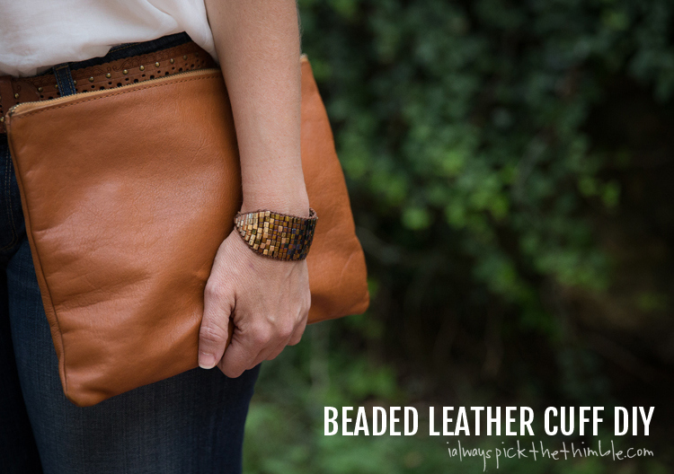 Picture Of diy ombre beaded leather cuff  1