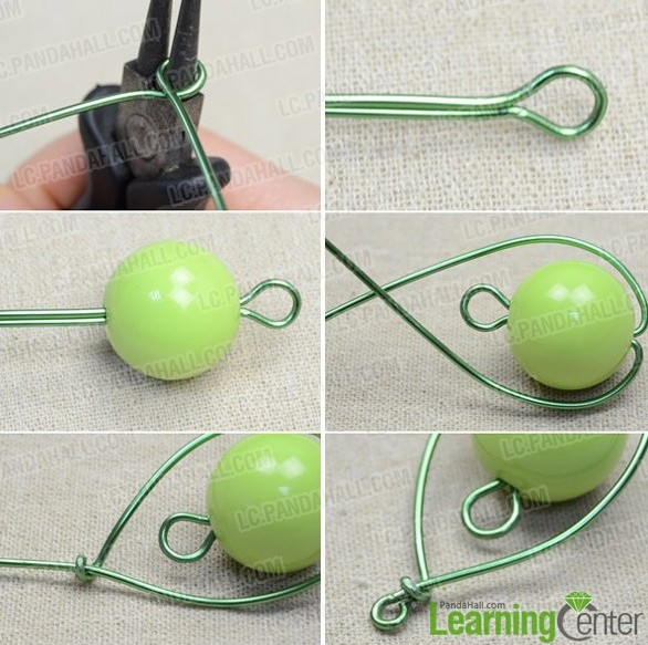 Picture Of diy pear like wire wrapped pendant  2