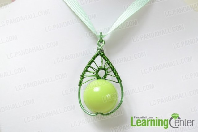 Picture Of diy pear like wire wrapped pendant  5