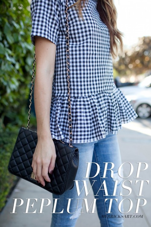 fun gingham peplum top (via merricksart)