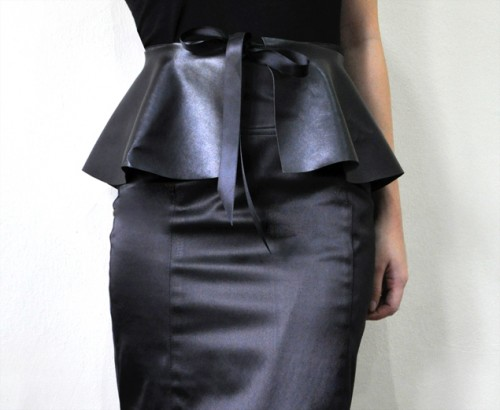 no sew peplum belt (via micheleng)