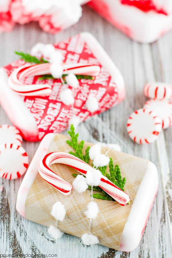 Picture Of diy peppermint soap for christmas  3