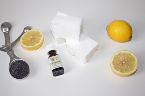 DIY Scrubbing Poppyseed Citrus Soap Bars