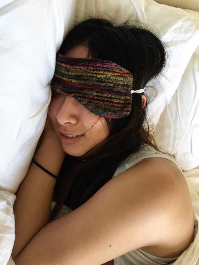 Picture Of diy quilted sleep mask to make  5