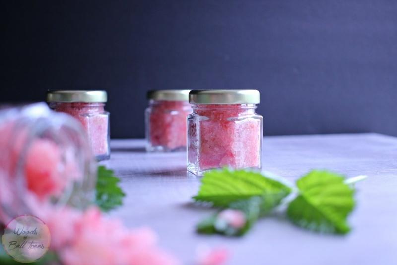Picture Of diy raspberry and honey lip scrub  3