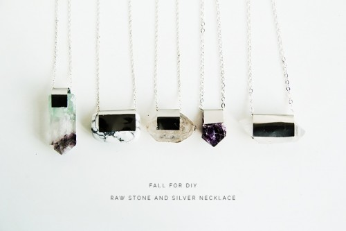 DIY Raw Semi Precious Stone Necklace