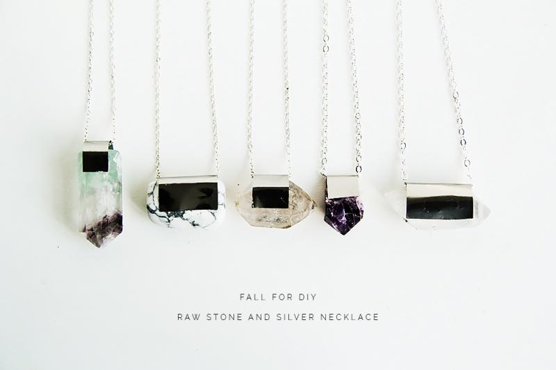 Picture Of diy raw semi precious stone necklace  1