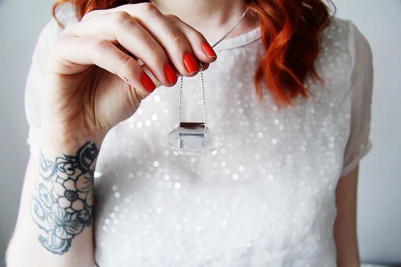 Picture Of diy raw semi precious stone necklace  6