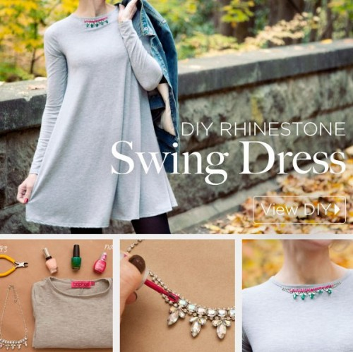 DIY Rhinestone Swing Dress