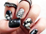 diy-rock-maniac-nail-art-in-black-and-white-1